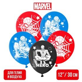 """Воздушные шары """"Super hero"""", Человек-паук (набор 25 шт) 12 дюйм"""