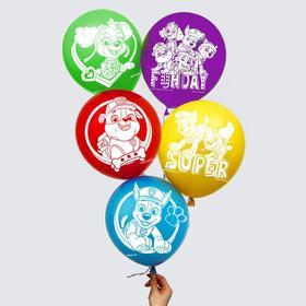 """Воздушные шары """"Super"""", Щенячий патруль (набор 25 шт) 12 дюйм"""