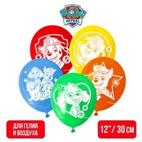 """Воздушные шары """"Paw patrol"""", Щенячий патруль (набор 5 шт) 12 дюйм"""
