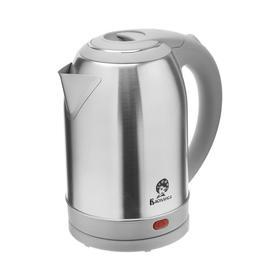 """Чайник электрический """"ВАСИЛИСА"""" Т32-2000, металл, 2 л, 1500 Вт, серый"""
