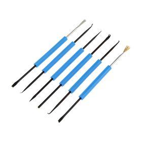 Набор инструмента для пайки Zhongdi ZD-151, металлическая кисть, скребок, нож, крючок, 6 шт