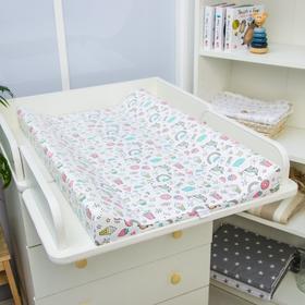 Доска пеленальная Polini Kids «Единорог Сладости», для детских кроватей, розовый