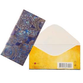 "Envelope for money ""Ornament"" blue background"