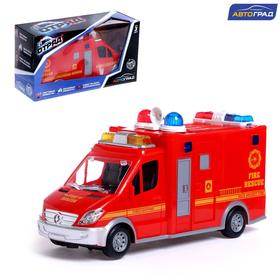 "AVTOGRAD car ""Fire service"", battery operated, light and sound, SL-04692A"
