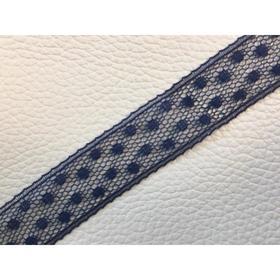 Кружево, размер 1,3 см, 1 м, цвет синий Ош