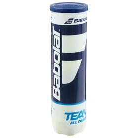 Мяч теннисный BABOLAT Team All Court,арт.502081, уп.4 шт,одобр.ITF,фетр, нат.резина,желтый