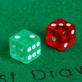 Кубики игральные 1.6 × 1.6 см, набор 2 шт., акрил