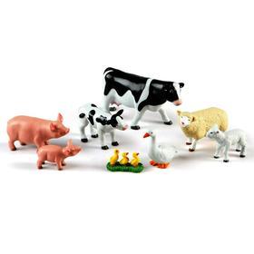 Игровой набор «Животные фермы. Мамы и малыши», 8 элементов