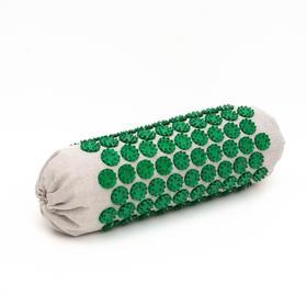 Массажёр-аппликатор «Тибетский валик», для шеи и поясницы, для интенсивного воздействия, цвет зелёный