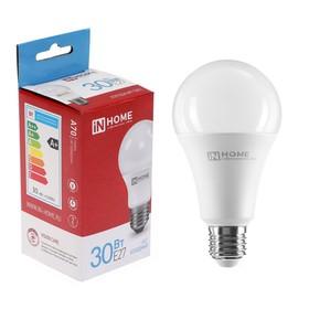 Лампа светодиодная IN HOME LED-A70-VC, Е27, 30 Вт, 230 В, 6500 К, 2700 Лм