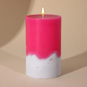 Свеча интерьерная с бетоном «Фуксия«, 6 х 10 см