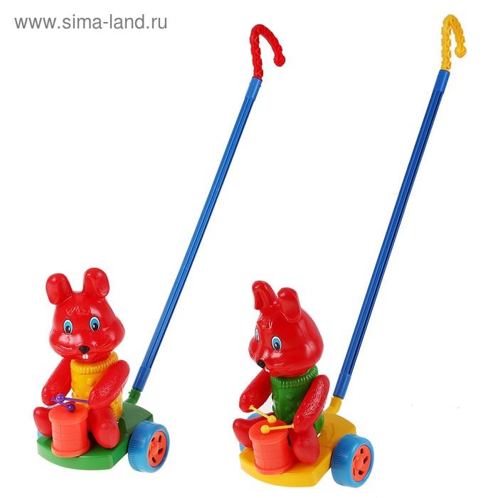 Каталка Кролик, с барабаном