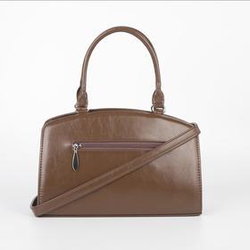 Сумка женская, отдел на молнии, наружный карман, длинный ремень, цвет коричневый - фото 52757