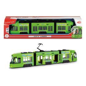 Городской трамвай 46 см, зеленый, откр двери