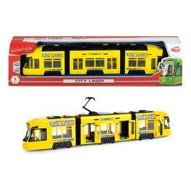 Городской трамвай 46 см, желтый, откр двери