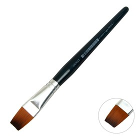Кисть плоская, Andy, № 18, d-18.0 мм, L-22 мм (короткая ручка), синий лак, «Малевичъ», синтетика