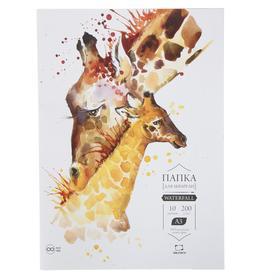 "Бумага А3 для акварели в папке, ""Малевичъ"" Waterfall, 297 x 420 мм., 200г/м, 10 листов"