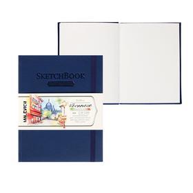 Скетчбук для акварели, 150 х 200 мм, «Малевичъ», Veroneze, 50 листов, 200 г/м², хлопок 25 %, синяя обложка