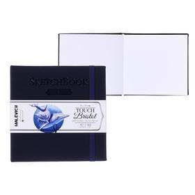 Скетчбук для графики и маркеров, 140 х 140 мм, «Малевичъ», Bristol Touch, 40 листов, 180 г/м², обложка индиго