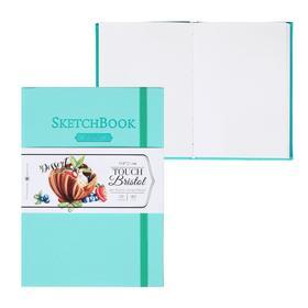 Скетчбук для графики и маркеров, А5, 148 х 210 мм, «Малевичъ», Bristol Touch, 50 листов, 180 г/м², мятная обложка