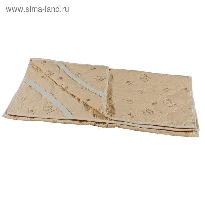 Наматрасник стеганный Миродель овечья шерсть 90*200 см, тик