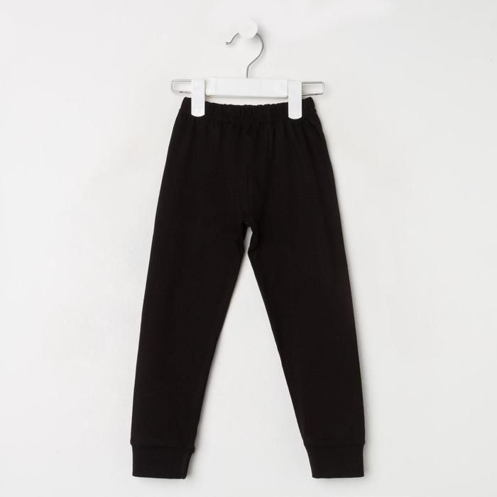 Кальсоны для мальчика, цвет чёрный, рост 110 см - фото 76765274