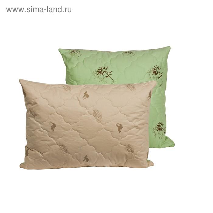 Подушка Миродель Зима-Лето 50*70 см, бамбуковое волокно/верблюжья шерсть, тик