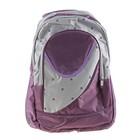 """Рюкзак школьный """"Лондон"""", 1 отдел, 2 наружных и 2 боковых кармана, фиолетовый/серый"""