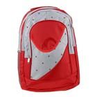 """Рюкзак школьный """"Лондон"""", 1 отдел, 2 наружных и 2 боковых кармана, красный/серый"""