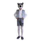"""Карнавальный костюм """"Волчонок плюш"""", 3 предмета: маска-шапочка, жилетка, шорты. Рост 122-128 см"""