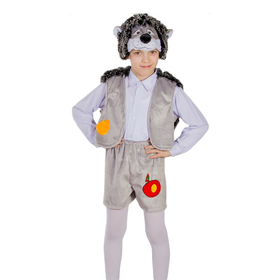 Карнавальный костюм «Ёжик», маска-шапочка, шорты, жилет, рост 122-128 см