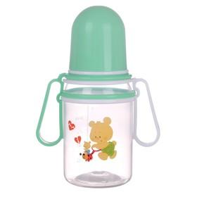 Бутылочка для кормления «Весёлые животные» с передвижными ручками, 150 мл, от 0 мес., цвета МИКС