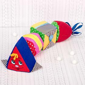 Развивающая мягкая игрушка «Гусеница»