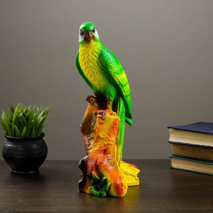 "Копилка ""Попугай"" зелёная, жёлтая грудка"