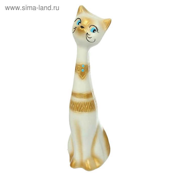 "Сувенир ""Котик"" белый, орнамент, поддувка, микс"
