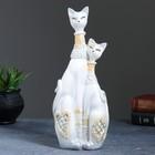 "Фигура ""Кошечки Сладкая парочка"" белая/ серебро 30х6х12 см"