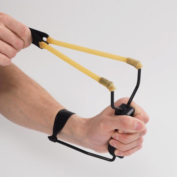 Рогатка, рукоять с упором и подпальцевыми выемками