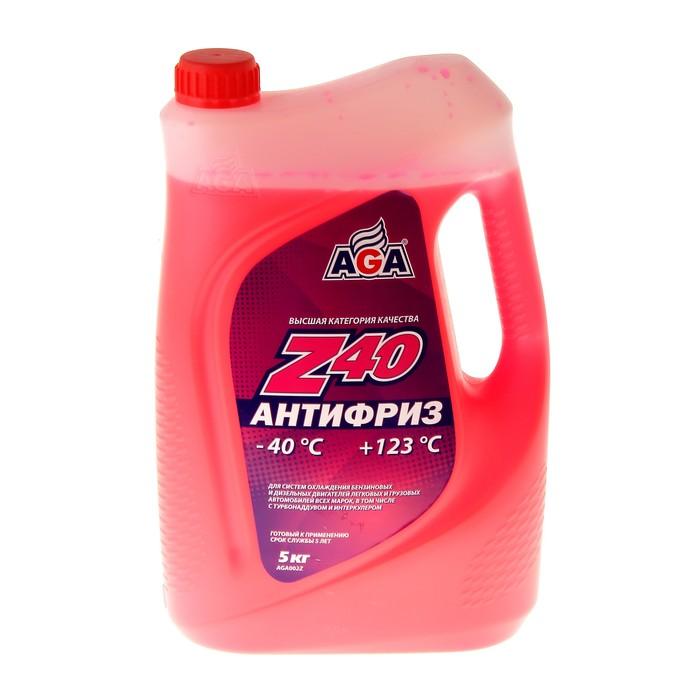 Антифриз готовый AGA -40С/+123С красный, 5 л