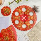 Пасхальный набор для сервировки стола «Хохлома» - фото 7280844