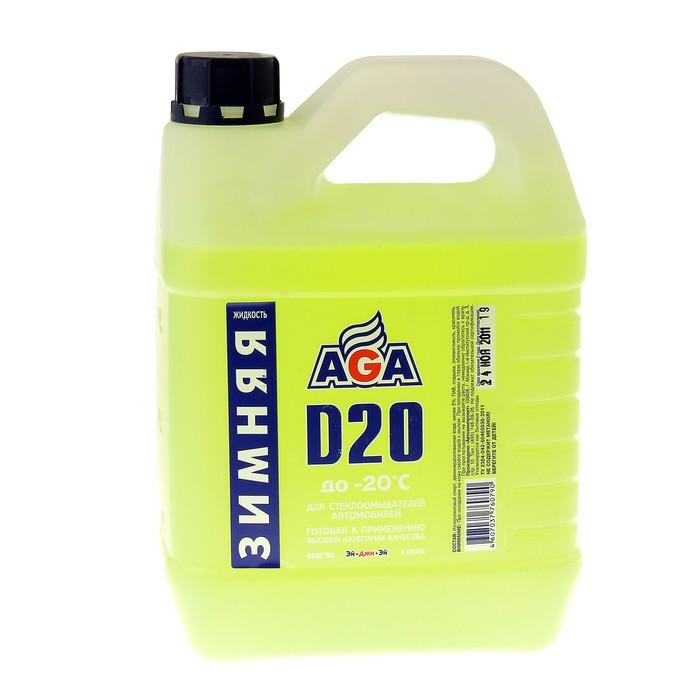 Жидкость омывателя Зима готовая AGA до -20С 4л