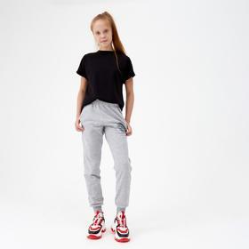 Брюки для девочки, цвет светло-серый/ Premium, рост 116 см