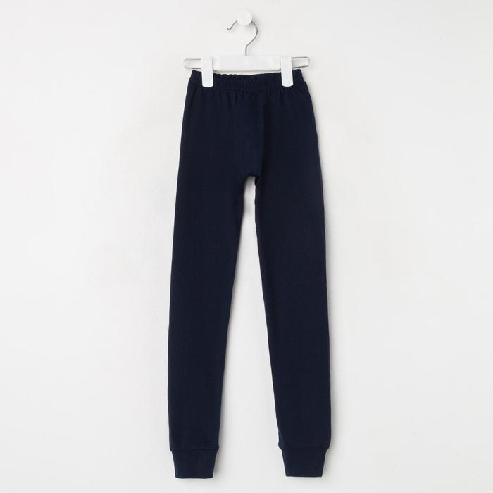 Кальсоны для мальчика, цвет тёмно-синий, рост 122 см - фото 76776711