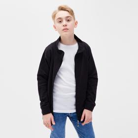 Джемпер для мальчика, цвет чёрный меланж, рост 116 см