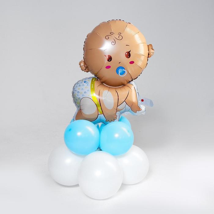 Букет из шаров «Младенец», фольга, латекс, набор 9 шт. - фото 2493413