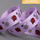 Reps tape 25mm*2±0.1 m ladybugs JF-44 lilac