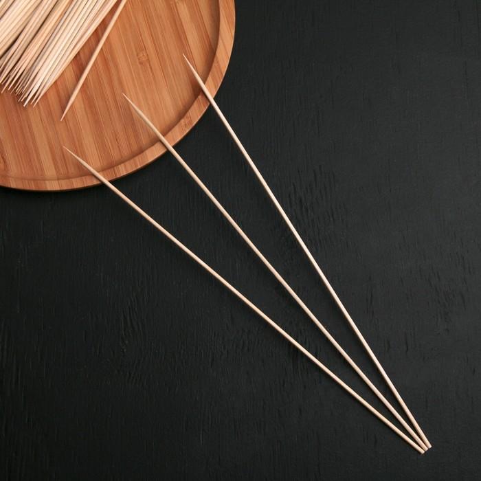 Шампур деревянный Komfi, берёза, 30×0,3 см, по 100 шт