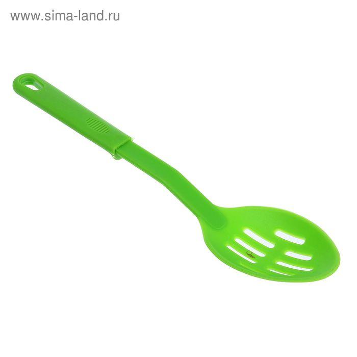 """Ложка для салата 31 см """"Радужная"""", цвета МИКС"""