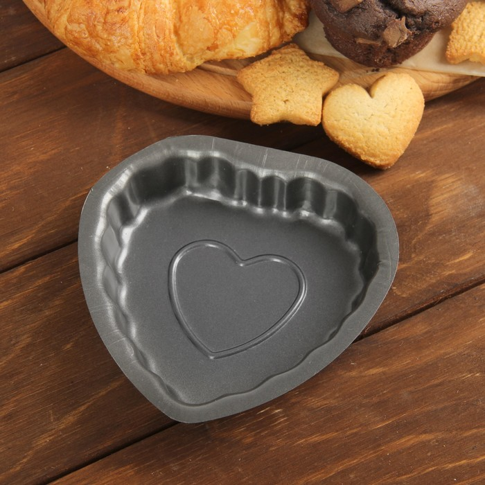 """Форма для выпечки """"Сердце в сердце"""", антипригарное покрытие"""