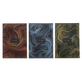 """Тетрадь А4, 80 листов в клетку """"Мрамор"""", обложка мелованный картон, тиснение фольгой, твин-лак, МИКС"""