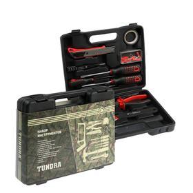 Набор инструментов в кейсе TUNDRA, подарочная упаковка, универсальный, 12 предметов